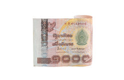 Rolls der Banknote der thailändischen Währung Lizenzfreie Stockfotografie