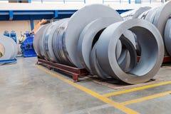Rolls der Blechtafel für Produktion Lizenzfreies Stockbild