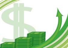 Rolls der Dollar Lizenzfreies Stockbild