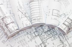 Rolls der -Konstruktionszeichnungen Lizenzfreies Stockfoto