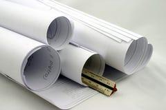 Rolls des conceptions avec la grille de tabulation Photos stock
