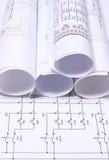 Rolls des diagrammes électriques Images libres de droits