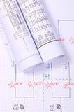 Rolls des diagrammes électriques Photos stock