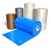 Rolls des Farbenplastikbandes Stockbilder