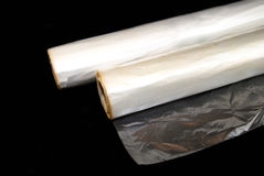 Rolls des sachets en plastique Image stock