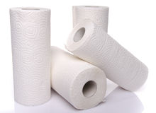 Rolls des serviettes de papier Images libres de droits