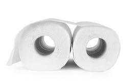 Rolls des serviettes de papier, d'isolement sur le blanc image stock