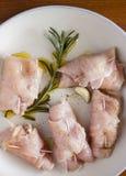 Rolls di carne bianca Immagini Stock Libere da Diritti