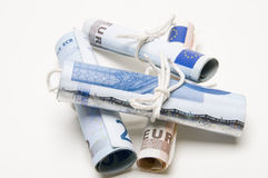 Rolls di soldi Fotografie Stock