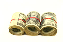 Rolls di soldi Immagini Stock Libere da Diritti