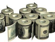 Rolls di soldi Immagine Stock
