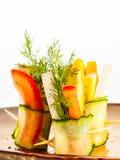 Rolls di verdure fotografie stock libere da diritti