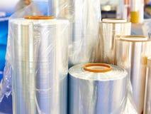 Rolls do filme plástico foto de stock