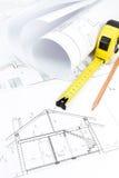 Rolls do modelo da arquitetura & imagens de stock