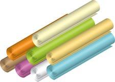 Rolls do papel Imagem de Stock