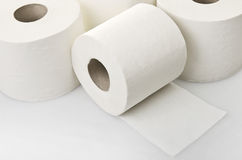 Rolls do papel higiênico fotos de stock royalty free