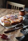 Rolls doce com creme de pastelaria da baunilha Fotografia de Stock Royalty Free