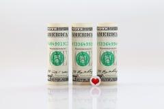 Rolls of dollar bills Royalty Free Stock Images