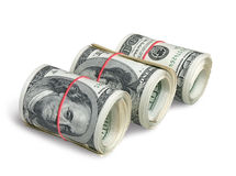 Rolls of dollars Royalty Free Stock Photo