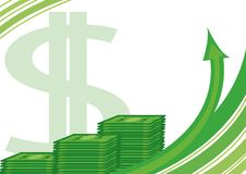 Rolls dos dólares Imagem de Stock Royalty Free