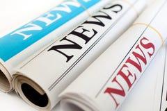 Rolls dos jornais Fotografia de Stock Royalty Free