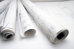 Rolls of  drawing Stock Photography