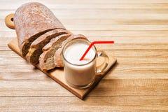 Rolls e pão com iogurte Imagens de Stock