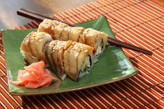 Rolls with the eel Royalty Free Stock Image