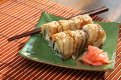 Rolls with the eel Stock Photo