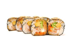 Rolls with eel Stock Image