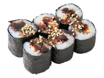 Rolls with Eel Royalty Free Stock Photos