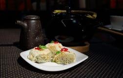 Rolls en el restaurante japonés Imagen de archivo libre de regalías