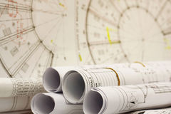 Rolls of engineering works Royalty Free Stock Photos