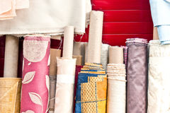 Rolls of fabric Royalty Free Stock Photos