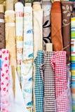 Rolls of fabric Stock Photos