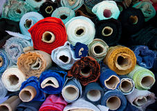 Rolls of fabric Stock Photos