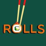 Rolls Filadelfia e bastoncini illustrazione di stock