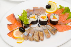 Rolls with fish Royalty Free Stock Photography