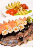 Rolls with fish Royalty Free Stock Images