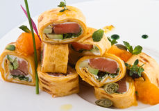 Rolls with fish Stock Photography