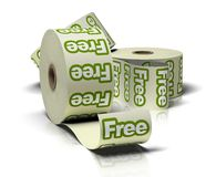 Rolls of free stickers Stock Image
