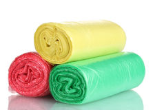 Rolls of garbage bags Royalty Free Stock Images