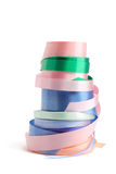Rolls of Gift Ribbons Royalty Free Stock Images