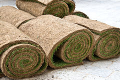 Rolls of grass Royalty Free Stock Images