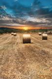 Rolls of haystacks Royalty Free Stock Photography