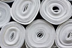 Rolls of heat foil insulation of walls Stock Photography