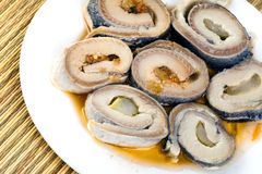 Rolls from a herring Stock Image