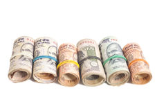Rolls of Indian rupees Royalty Free Stock Photo