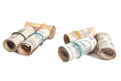 Rolls of Indian rupees Stock Photography