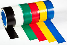 Rolls of insulation adhesive tape Stock Photos